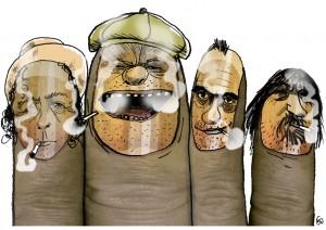 Blæksprutte, Gitte Skov, gs, Thomas Helmig, Kim Larsen, Klaus Kjellerup, Johnny Madsen, Dansk rygelov, rygning