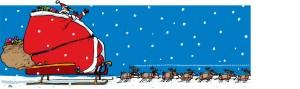 Weekendavisen, Gitte Skov, gs, binge, overvægtig, julesul, fed, julegodter, rensdyr, kane, fat Santa Claus in sleigh