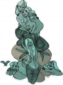 Den lille havfrue med venner, The little mermaid with friends, Weekendavisen, Gitte Skov, gs