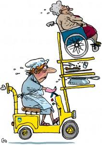 sygehjælper, sosu, stress på plejehjem, samlebåndsarbejde, FOA, foa, Gitte Skov, gs