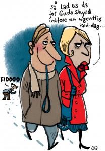 Weekendavisen, Gitte skov, gs, cartoonist, hot dog, gift med en vegetar, married to a vegetarian, æder hund, eats dog