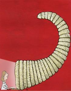 Fysioterapeuten, gs, internet, cornucopia, hjemmeside, intranet, overflødighedshorn, Gitte Skov, cartoonist