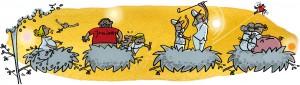 Redebyggeri, den unge flytter fra reden, kids fly the nest, HK stat, Gitte Skov, gs, cartoonist