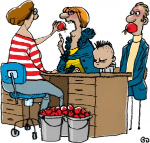 Weekendavisen, gs, Gitte Skov, cartoonist, besværlige forældre, hanekam, forædrekonsultation, Brian, parents complaining