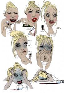 BT, gs, promille, BAC, alkoholforgiftning, fuld, drunk, sick, i opløsning, Gitte Skov, cartoonist