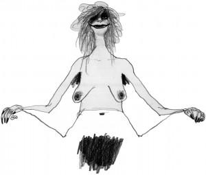 Aktuelt, female pubic hair, mis, pussy, kvindelig kønsbhåring, Gitte Skov, Cartoonist