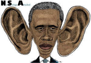Obama, big ears, store ører, spionage, spy
