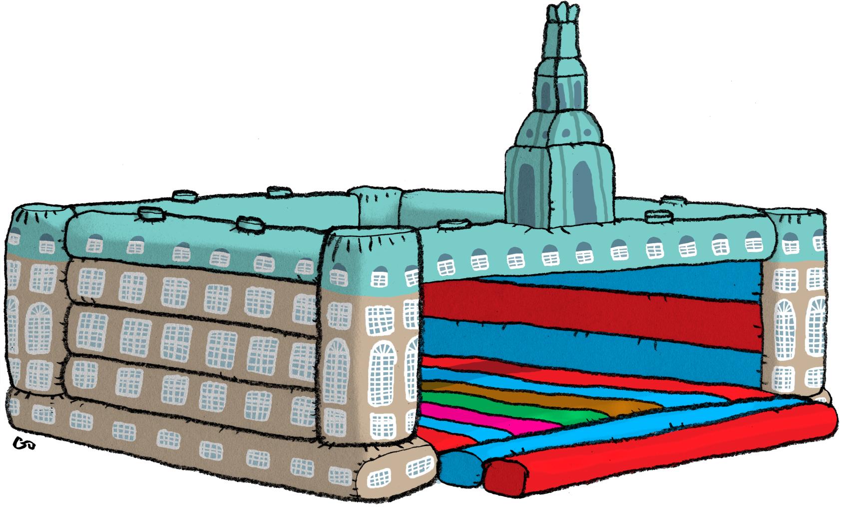 Ugebrevet A4, gs, Gitte Skov, cartoonist, folketinget, Danish government, Christiansborg, hoppeborg, danske politikere