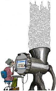 Prosa, Gitte Skov, gs, cartoonist, gammel computer kan ikke åbne fil, old computer can't open file
