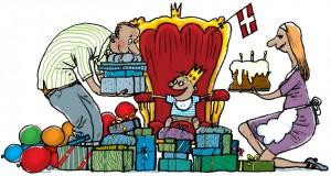 Weekendavisen, gs, tronstol, ønskebarn, alt hvad du peger på, trofæbarn, Gitte Skov, Cartoonist