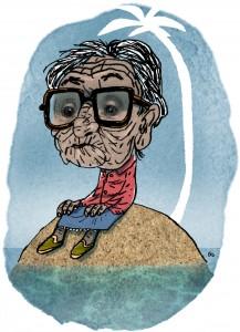 Weekendavisen, gs, alzheimer, dementia, demented, i sin egen verden, Gitte Skov, cartoonist