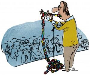 Gymnasieskolen, Gitte Skov, gs, lang tale, ævler, søvndyssende, snakker uendeligt, boring, Gitte Skov, cartoonist